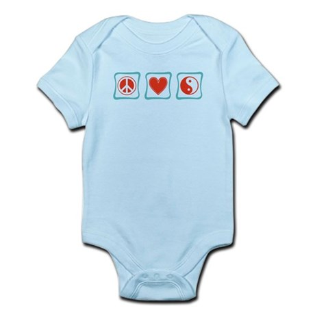 Peace, Love and Taoism Infant Bodysuit