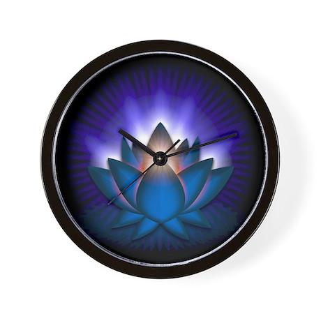 "Blue ""Throat"" Chakra Lotus Wall Clock"