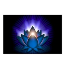 "Blue ""Throat"" Chakra Lotus Postcards (Package of 8"