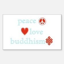 Peace, Love and Buddhism Decal