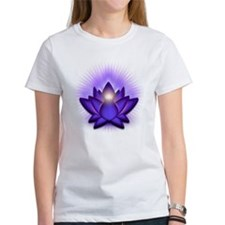 "Purple ""Third Eye"" Chakra Lotus Tee"