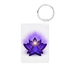 "Purple ""Third Eye"" Chakra Lotus Keychains"