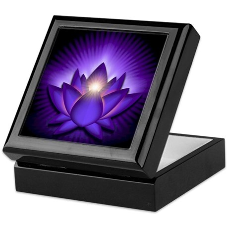 "Purple ""Third Eye"" Chakra Lotus Keepsake Box"