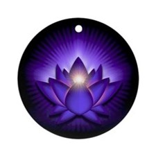 "Purple ""Third Eye"" Chakra Lotus Ornament (Round)"