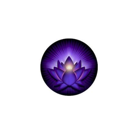 "Purple ""Third Eye"" Chakra Lotus Mini Button"