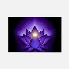 "Purple ""Third Eye"" Chakra Lotus Rectangle Magnet"