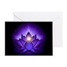 "Purple ""Third Eye"" Chakra Lotus Greeting Card"
