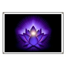 "Purple ""Third Eye"" Chakra Lotus Banner"