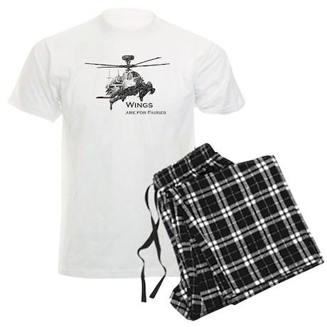 Wings are for Faries AH-64D Men's Light Pajamas