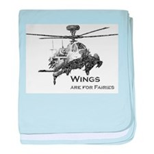 Wings are for Faries AH-64D baby blanket