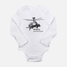 Wings are for Faries AH-64D Long Sleeve Infant Bod