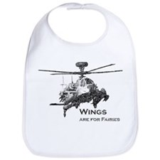 Wings are for Faries AH-64D Bib