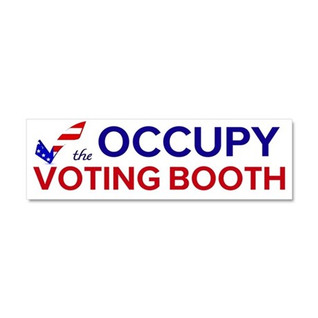 Occupy Voting Booth Car Magnet 10 x 3