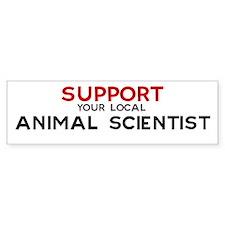 Support: ANIMAL SCIENTIST Bumper Bumper Sticker