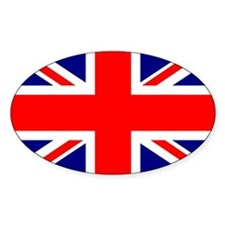 British Flag or Union Jack Sticker (Ovl)