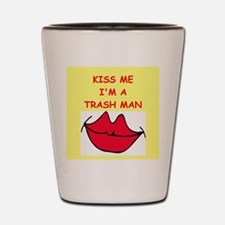 trash man Shot Glass
