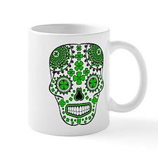 Shamrock Sugar Skull Mug