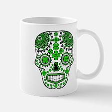 Shamrock Sugar Skull Small Small Mug