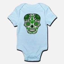 Shamrock Sugar Skull Infant Bodysuit