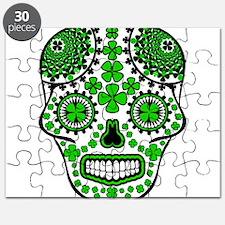 Shamrock Sugar Skull Puzzle