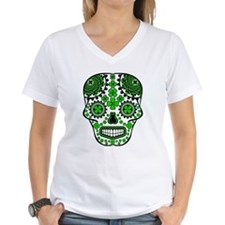 Shamrock Sugar Skull Shirt