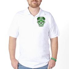 Shamrock Sugar Skull T-Shirt