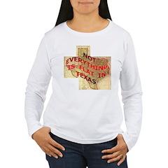 Flat Texas Women's Long Sleeve T-Shirt