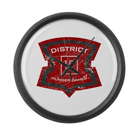 District 12 sign Large Wall Clock