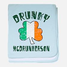 Irish Drunky baby blanket