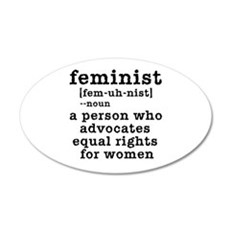 Feminist Definition 22x14 Oval Wall Peel
