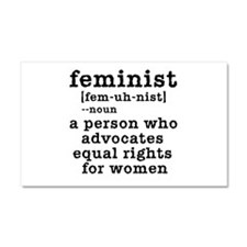 Feminist Definition Car Magnet 20 x 12
