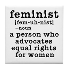 Feminist Definition Tile Coaster