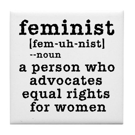 Feminist Definition Tile Coaster