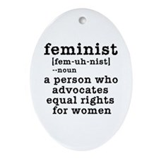 Feminist Definition Ornament (Oval)