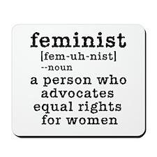 Feminist Definition Mousepad