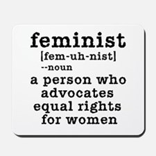 Feminist Definition Mousepad