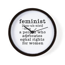 Feminist Definition Wall Clock