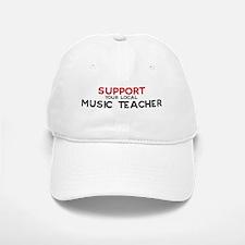 Support: MUSIC TEACHER Baseball Baseball Cap