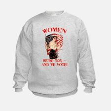 Women 52% and We Vote Sweatshirt