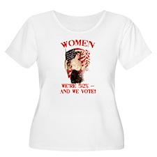 Women 52% and We Vote T-Shirt