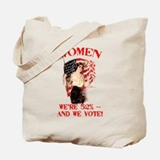 Women 52% and We Vote Tote Bag
