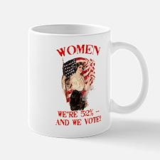 Women 52% and We Vote Mug