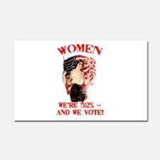 Women 52% and We Vote Car Magnet 20 x 12