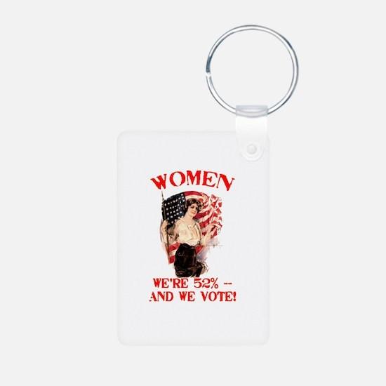 Women 52% and We Vote Keychains