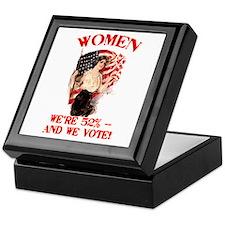 Women 52% and We Vote Keepsake Box