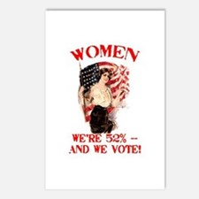 Women 52% and We Vote Postcards (Package of 8)