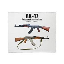 Firearm Gun Throw Blanket