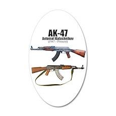 Firearm Gun 22x14 Oval Wall Peel