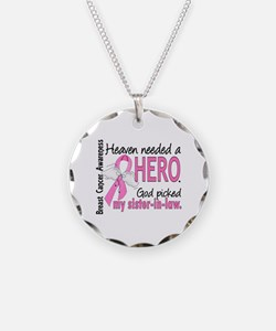 Heaven Needed a Hero Breast Cancer Necklace