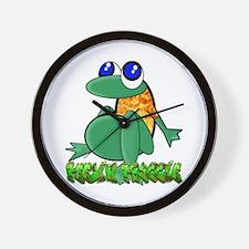 Feelin Froggy Wall Clock